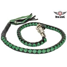 Green & Black Get Back Whip For Motorcycles