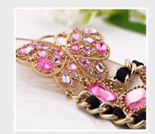Fashion Rhinestone butterfly Weave Bracelets Betsey Johnson Enamel Charm Jewelry