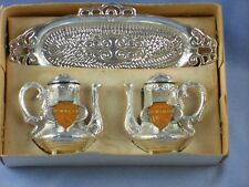 New listing Silver Plastic Coffeepot Salt – Pepper N' Tray Set New Jersey Souvenir in Box