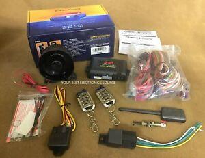 NEW Crimestopper SP-402 1-Way Car Alarm / Remote Start w/ Two 5-Button Remotes