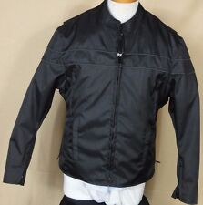 Vance Leathers Black Nylon Motorcycle Jacket with Zip in Liner Size M