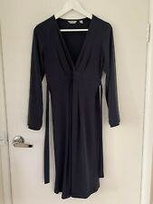 RIPE MATERNITY Pregnancy Long Sleeve Grey Charcoal Jersey Dress - Size M