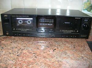 JVC  Stereo Cassette Deck Model TD-W210 Dual Deck Working