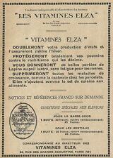 W3856 Vitamines ELZA pour lapins - Pubblicità 1929 - Advertising