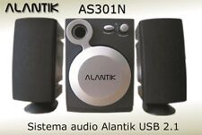 CASSE AUDIO 2.1 USB WOOFER ALANTIK AS301N NERO
