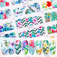 Nail Art Water Decals Transfer Stickers Flowers Colorful Nails Decoration Tips