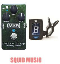 MXR Carbon Copy Analog Delay Guitar Effects Pedal M169 (FREE GUITAR TUNER) M-169