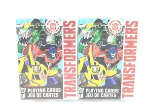 Lot of 2 Transformers Robots in Disguise Regular Size Playing Cards Deck Sealed