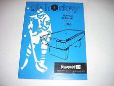 Brunswick Air Hockey Service Manual 3X6 1973 Model 74-6 32 pages  51-902615