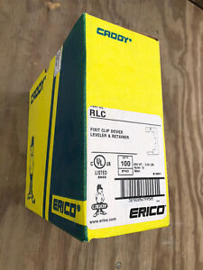 (100) NIB ERICO CADDY RLC DEVICE LEVELER / RETAINERS
