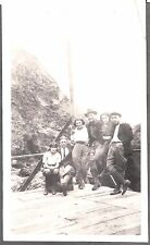VINTAGE 1921 PIRATES COVE N. OF SAN FRANCISCO CALIFORNIA PEOPLE PLATFORM PHOTO