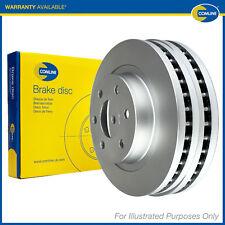 2x Original Comline Discos de freno trasero con ventilación Revestido Pintado Set Par