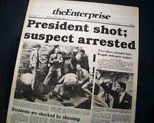 JOHN HINCKLEY JR. Shoots President RONALD REAGAN Assassination 1981 Newspaper