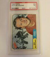 Alex Delvecchio 1968 Topps #28 Hockey Card Graded PSA 7