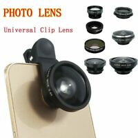8pcs Universal Clip On Lens Kit Fisheye Wide Angle Macro For Cell Phone iPhone