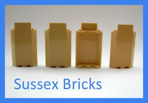 Lego Castle - 4x Tan Sand Wall Panel Corner 87421 3x3x6 - New Pieces