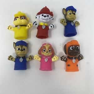 Nickelodeon Paw Patrol Finger Puppets Set of 5 Kids Bath Toys Educational Fun
