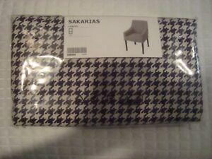 NEW IKEA SAKARIAS Chair Cover VIBBERBO Black/White Sakarias Armchair Slipcover