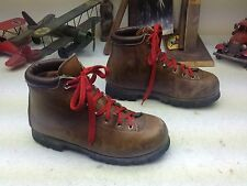 BROWN DISTRESSED LEATHER LACE UP ENGINEER MOUNTAINEER TRAIL BOSS BOOTS 8.5 M
