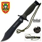 Special Forces Knife One Shot One Kill Sniper Survival Bowie Knives w/ Sheath