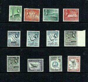 Aden: 1964 Queen Elizabeth definitive, Block CA watermark, reprints, MLH set.