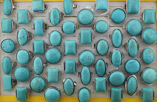 Wholesale lots 10pcs turquoise stonekingly party pretty rings jewelry L251