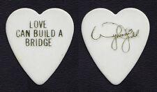 The Judds Wynonna Judd Signature White/Gold Heart Guitar Pick - 1990 Bridge Tour