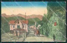 Vicenza Recoaro Stazione Treno PIEGHINE cartolina QK7779