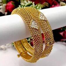 Indian Polki Bangles Size:2.4 Bridal Jewellery Wedding Bollywood Ethnic Wear