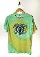 VINTAGE Style Tye Die T-shit Tee Baseball Graphic Colourful 90s Retro Medium