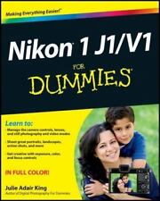 Nikon 1 J1/V1 For Dummies, King, Julie Adair, Good Condition, Book