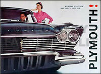 1957 Plymouth Sales Brochure Belvedere Plaza Savoy Suburban opens up to 23x17