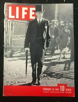 LIFE MAGAZINE COVER - February 10 1941 - LORD HALIFAX - New British Ambassador