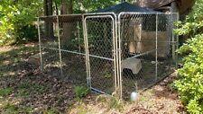 Pawhut 10 x 10 x 6 dog kennel w mesh roof