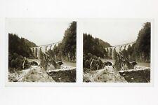 Ligne St Gervais Chamonix ? France Photo Stereo Plaque de verre ca 1927