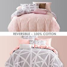 All Size Bed Quilt Duvet Doona Cover Set 100% Cotton Bedding Pillowcase