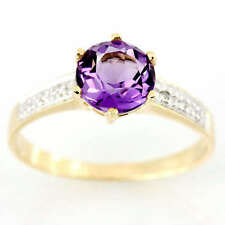 Handmade Solitaire with Accents Amethyst Fine Rings