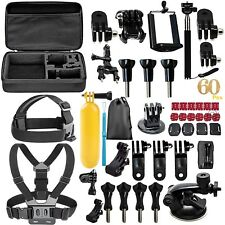 60 in 1 Accessories Set Kit For GoPro Hero 2 3 3+ 4 5 SJCAM Head Chest Strap Pol