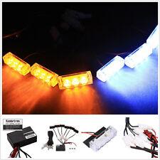 18 LED Amber/White Light Bar CAR Roof Top Emergency Hazard Warning Flash Strobe
