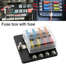 8Way Blade Fuse Box Block Holder Terminal Circuit for Car Boat 32V Waterproof Us