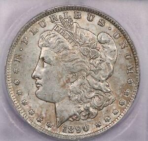 1890-O 1890 Morgan Silver Dollar S$1 ICG AU53
