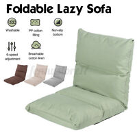 Adjustable Floor Chair Folding Relaxing Lazy Sofa Seat Cushioned Couch Lounge
