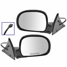 Black Power Side View Mirrors Left & Right Pair Set for Chevy S10 GMC Jimmy