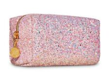 Bath Body Works Pink Gold GLITTER Cosmetic Travel Toiletry Bag Pouch Purse GIFT