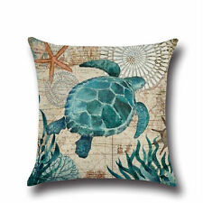 "U.S. Seller 18"" Turtle Print Toss Pillow Throw Pillow Ocean Life"