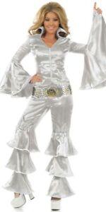 Fancy Dress ABBA Dancing Queen Silver 6-8 Party XS RRP £36.99