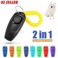 Dog Training Whistle Clicker Combo to Stop Pet Barking Obedience Train Skills