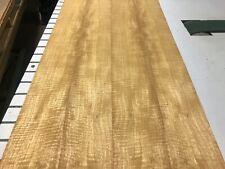 Movingue Fiddleback Wood Veneer 4 Sheets 48 1/2' x 5 1/4' 518C