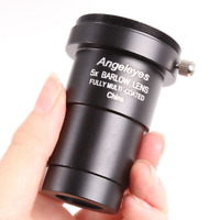 Angeleye 5x Barlow Lens 1.25'' Eyepiece Lens for Astronomical Telescope Lenses