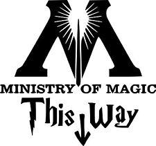 HARRY Potter Decalcomania Adesivo questa strada in al ministero della magia TOLET muri PORTA